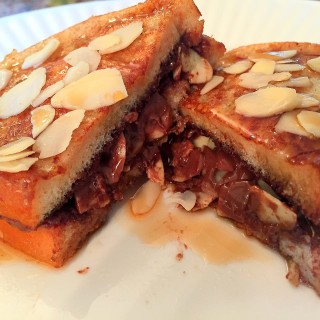 NUTELLA ALMOND FRENCH TOAST