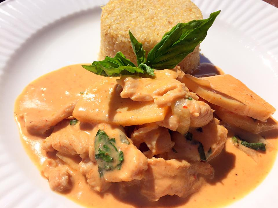 Red Curry Chicken with Bamboo Shoots