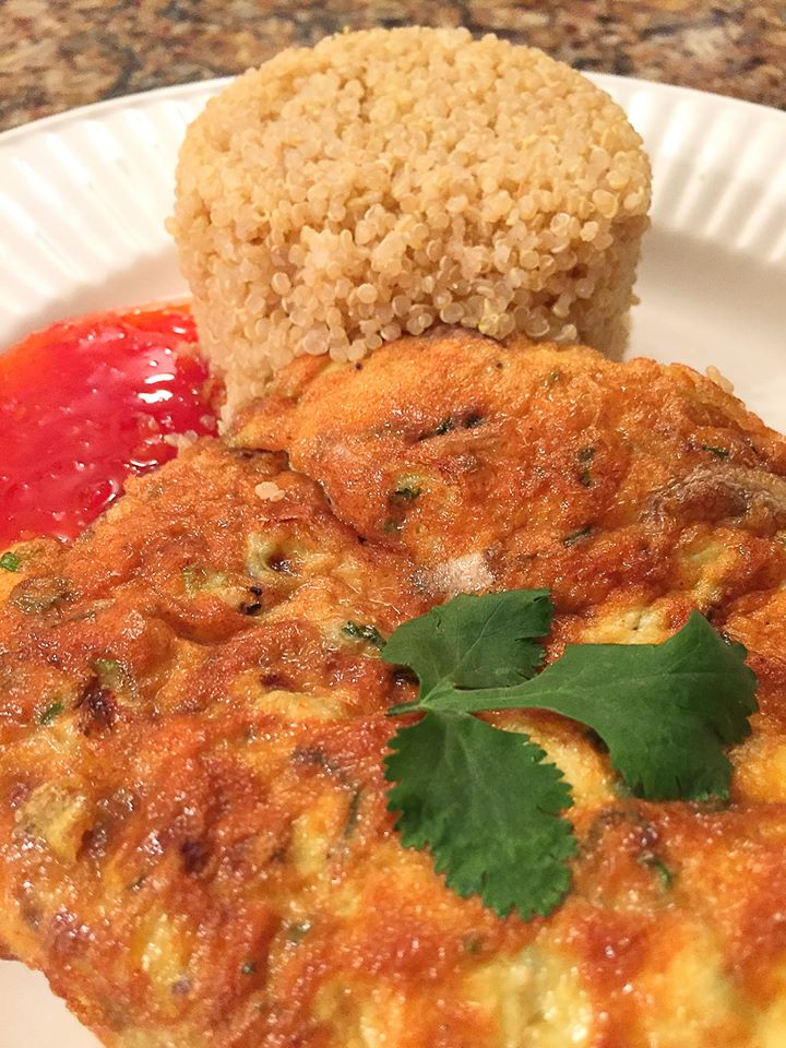 ... to thai people it is quick and easy this golden brown omelette always
