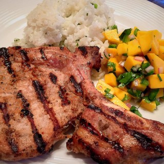 Grilled Jerk Pork Chops