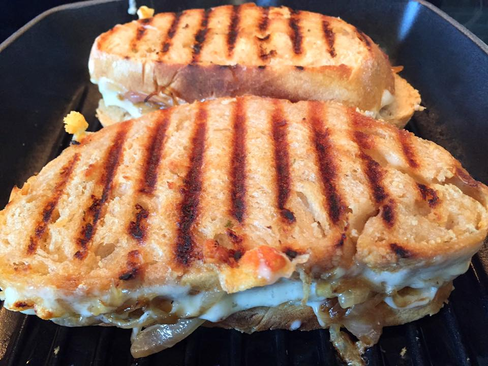Grilled Cheese with Caramelized Onions1