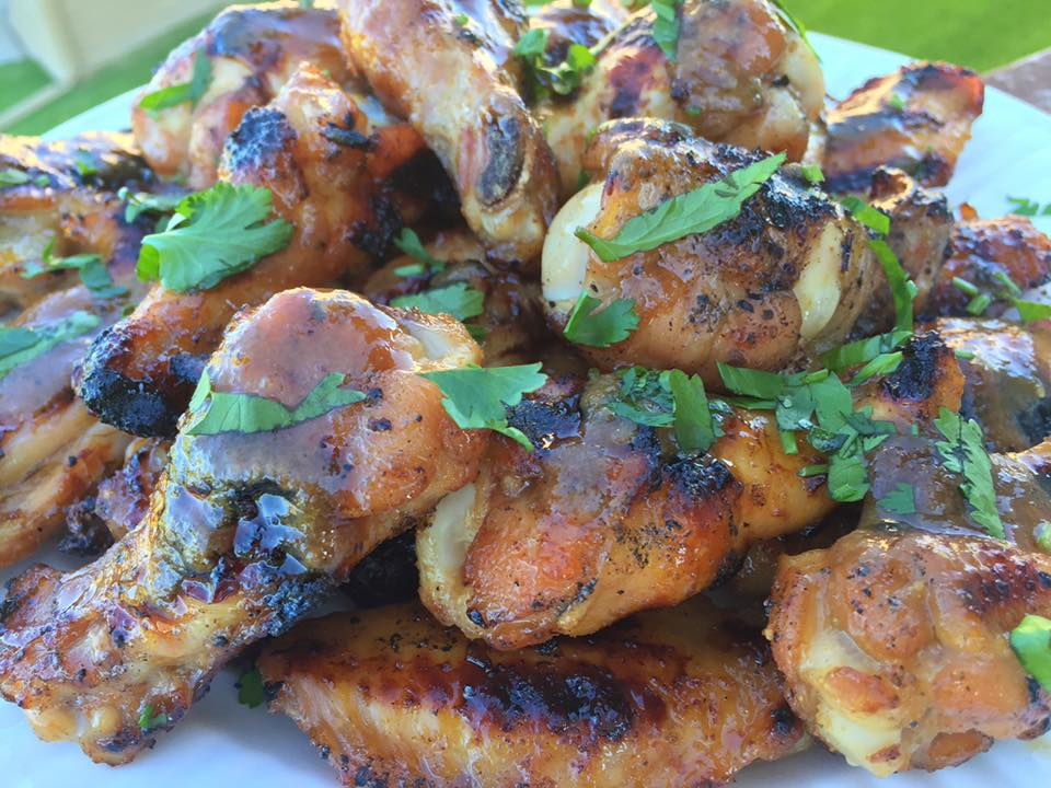 ... with grilled food we actually made these grilled asian chicken wings a