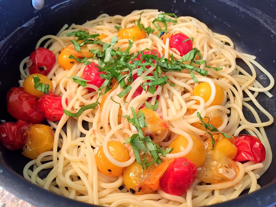 Roasted Cherry Tomatoes Garlic Pasta2