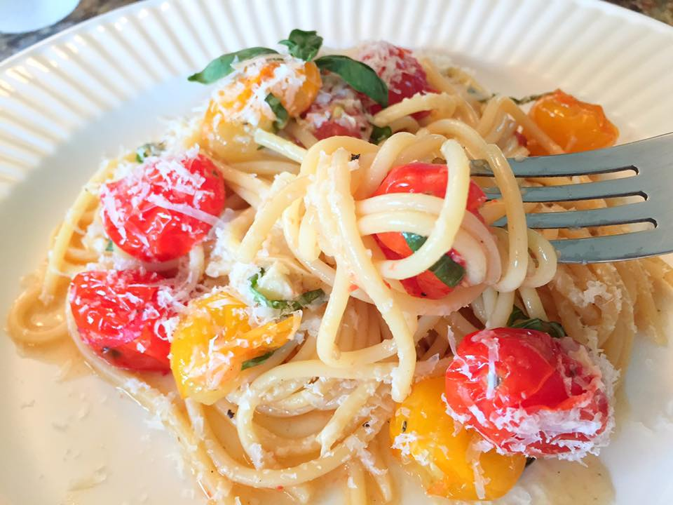 Roasted Cherry Tomatoes Garlic Pasta6
