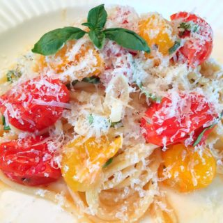 Roasted Cherry Tomatoes Garlic Pasta