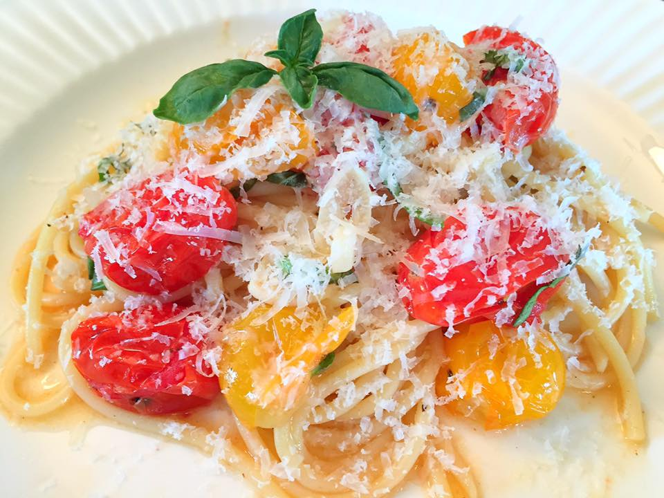 Roasted Cherry Tomatoes Garlic Pasta7