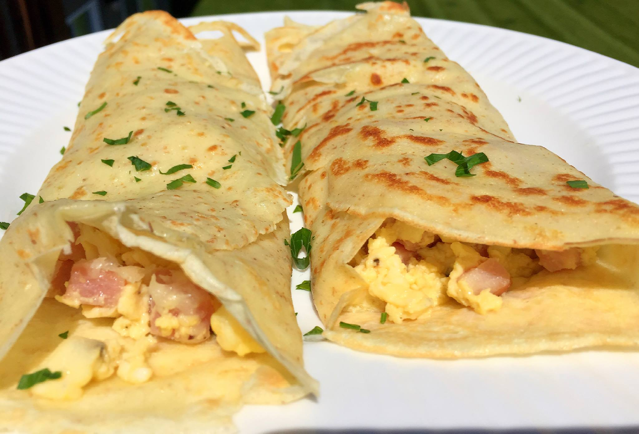Scrambled Eggs Ham Crepes6