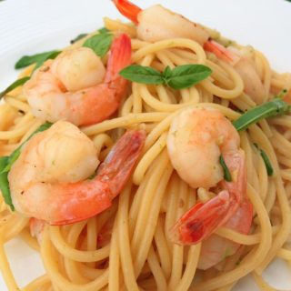 Drunken Spaghetti with Shrimp