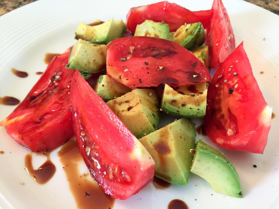Tomato Avocado Salad with Balsamic Reduction