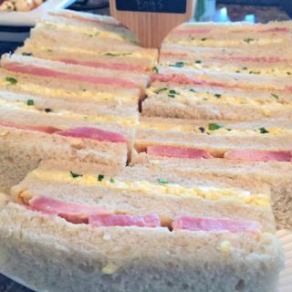 TRUFFLED EGG SALAD AND HAM TEA SANDWICHES