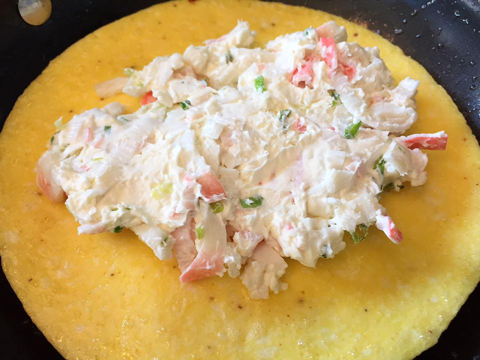 Crab and Cream Cheese Omelet