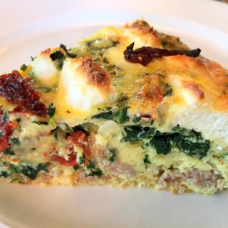 Sausage and Goat Cheese Egg Casserole