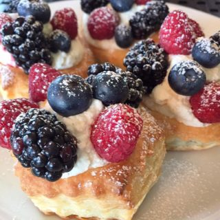 Puff Pastry Berries Nutella and Cream