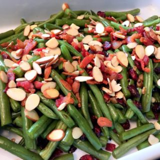 GREEN BEANS WITH BACON, CRANBERRIES AND ALMONDS
